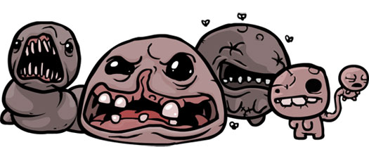 Quelques uns des boss du jeu The Binding Of Isaac